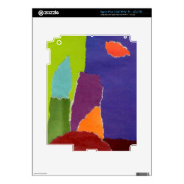 Colored landscape inspiration iPad 3 decal