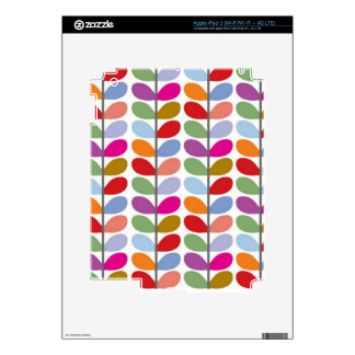 Colored Leaf Art iPad 3 Decal