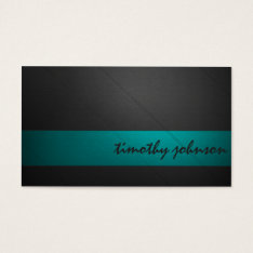 Colored Leather In Teal Business Card at Zazzle