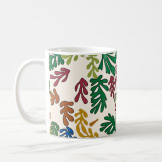 Colored Leaves, MAtisse Style Coffee Mug