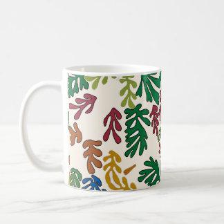 Colored Leaves, MAtisse Style Coffee Mug