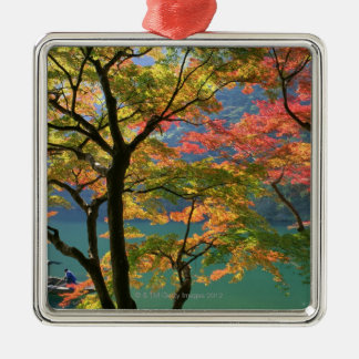 Colored Leaves Metal Ornament