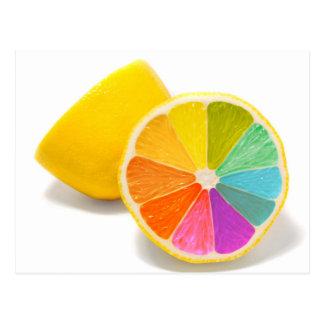 Colored Lemon Art Postcard