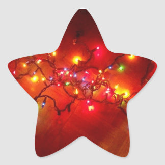 'Colored Lights' Star-Shaped Stickers