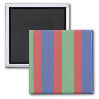 Colored Lines Abstract Refrigerator Magnet