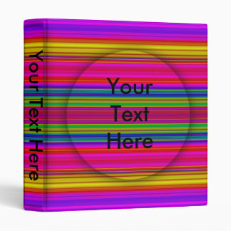Colored Lines Binder