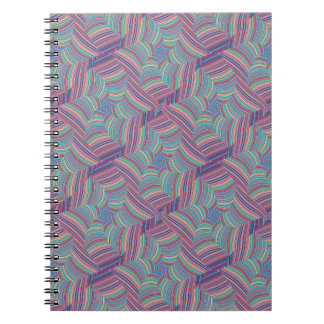 Colored Lines Distorted Note Books