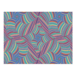 Colored Lines Distorted Postcard