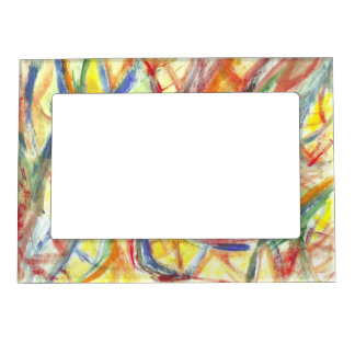 Colored Lines Magnetic Frame