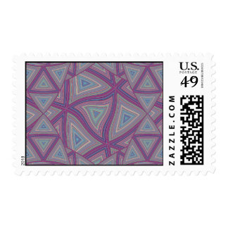 Colored Lines Warped Postage Stamps