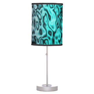 Colored Liquid Metal Abstract transition blue Table Lamp