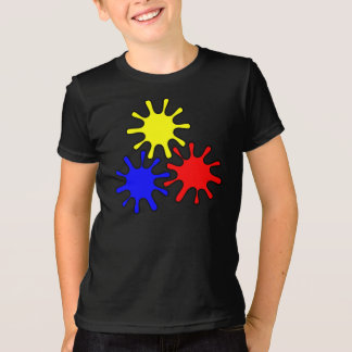 Colored little gears graphic tee for kids