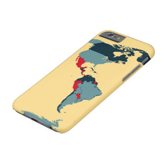 Colored Map of North & South America - iPhone 6/6s Barely There iPhone 6 Case