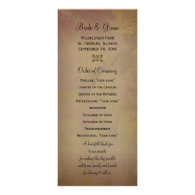 Colored Maple Leaves Wedding Program Rack Cards