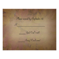 Colored Maple Leaves Wedding RSVP Response Card Announcement