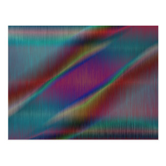 Colored Metal Abstract Lines Postcard