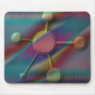 Colored Metal with Beveled Molecule Mouse Pad