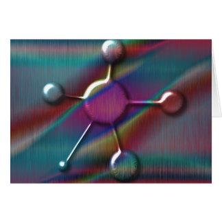 Colored Metal with Gel Molecule Greeting Card