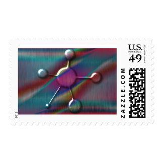 Colored Metal with Gel Molecule Postage