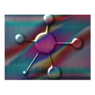 Colored Metal with Gel Molecule Postcard