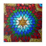 Colored mosaic art tile