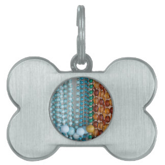 colored necklace stones pet name tag