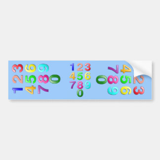Colored Numbers Bumper Sticker
