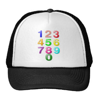 Colored Numbers Trucker Hat