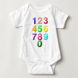 Colored Numbers Tee Shirt