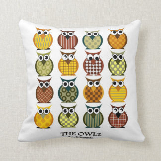 colored owl pillow