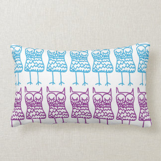 Colored Owls American Mojo Lumbar Pillow