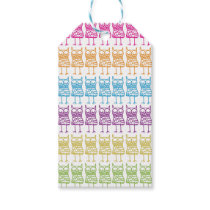 Colored Owls Gift Tag