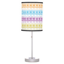 Colored Owls Table Lamp
