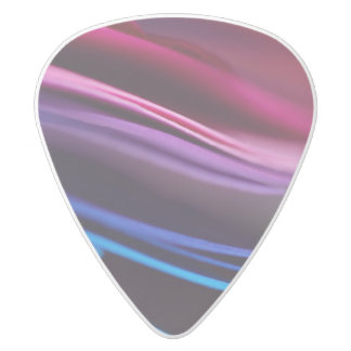 Colored Paper Abstract White Delrin Guitar Pick