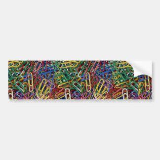 Colored paper clips bumper sticker