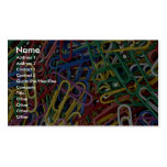 Colored paper clips Double-Sided standard business cards (Pack of 100)