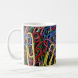 Colored paper clips coffee mug