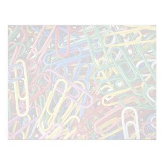 Colored paper clips custom letterhead