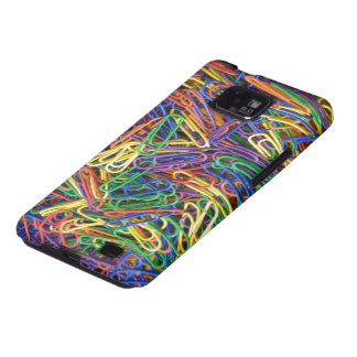 Colored Paper Clips Samsung Galaxy S Case