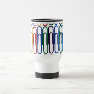 Colored Paperclips Travel Mug