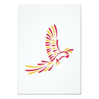 Colored parrot invite