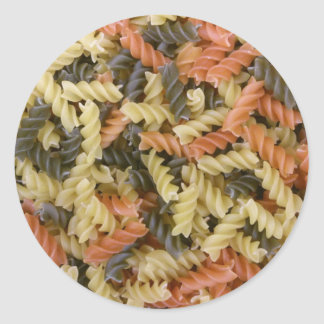 Colored Pasta Classic Round Sticker