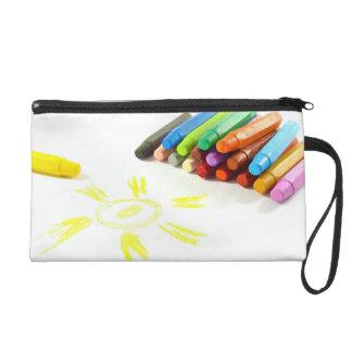 colored pastel wrislet wristlet purses