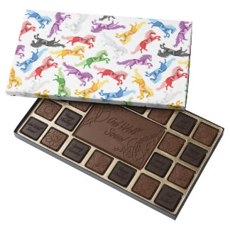 Colored Pattern jumping Horses Assorted Chocolates