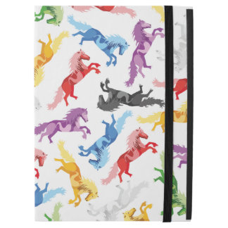 """Colored Pattern jumping Horses iPad Pro 12.9"""" Case"""