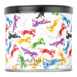 Colored Pattern jumping Horses Powdered Drink Mix