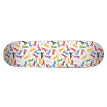 Colored Pattern jumping Horses Skateboard