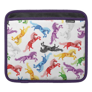 Colored Pattern jumping Horses Sleeve For iPads