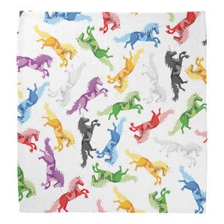 Colored Pattern Unicorn Bandana