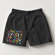 Colored Pattern Unicorn Boxers
